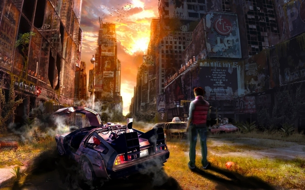 postapocalyptic back to the future time travel artwork_wallpaperswa.com_26